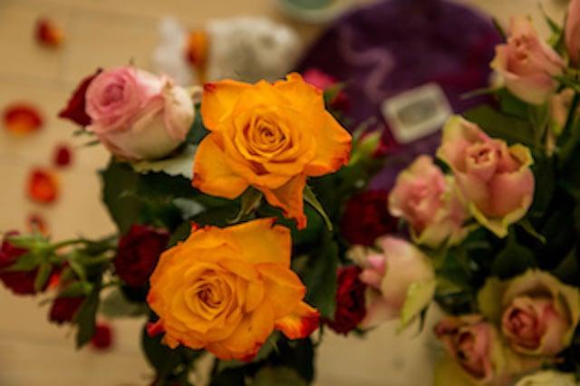 Retraite de femmes.énergie de guérison des roses